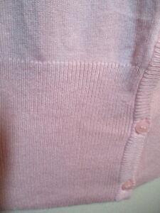 cardigan  pastel pink ponti knit  laura  sz s