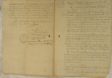 FRANKREICH Original Handschrift um 1780 Stempel Dokument Kalligrafie France