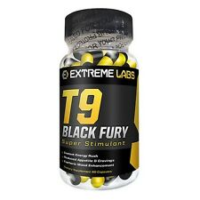 Extreme Labs T9 Black Fury,Ephadrine Free, stronger Than T5/T6 Fat Burner 60s
