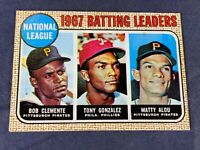 S4-8 BASEBALL CARD - ROBERTO CLEMENTE PITTSBURGH PIRATES - 1967 TOPPS - #1