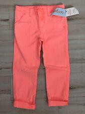 Girls' Cat & Jack Neon Coral Pocket Skinny Pants Size 4 Nwt