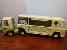 Vintage Buddy L Farms Truck & Horse Trailer 1970s Pressed Steel