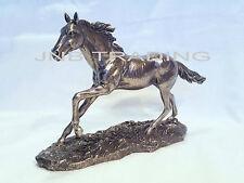 NEW Wildlife Galloping Horse Statue Figures Sculpture Bronze Finish
