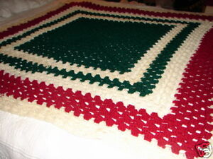 New Handmade Handcrafted Granny Square Crochet Afghan Throw Blanket Multi color