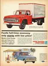 1962 vintage truck ad, Ford Styleside Pickup Trucks- 122212