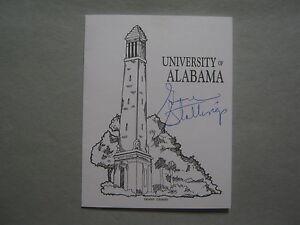 GENE  STALLINGS  Signed 4 1/4 x 5 1/2  University of Alabama  Crimson  Tide Card