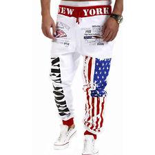 Fashion Mens Hiphop Trousers Sweat Pants Jogging Joggers Tracksuit Sport Bottoms