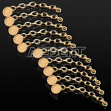10pcs Dental Orthodontic Traction Chain Golden Round Buttons & Chain for Braces
