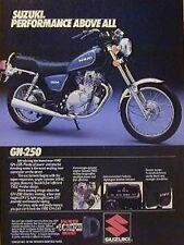 1982 SUZUKI GN-250 GN250 Original Motorcycle Ad GN 250