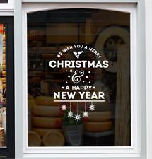 Merry Christmas Window Sticker Xmas Festive Shop Decoration Home Decal