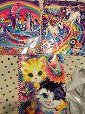 3x Glitter Lisa Frank Spiral Notebooks - Sunflower Kitten Dolphins Unicorns