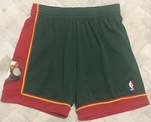 Authentic Mitchell & Ness 1995-1996 Seattle SuperSonics NBA Jersey Shorts Sz L