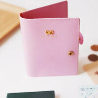 Protect Wallet Card Case Bowknot Buckles Passport Case Holder Cover Leather