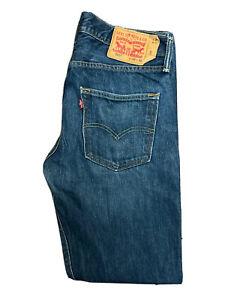 Original Levi's 501® Classic Straight Leg Blue Denim Jeans W32 L32 ES 8276