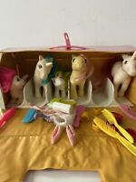 Vintage My Little Pony 1983 With Carrying Case 5 Ponies Bag Of Accessorizes