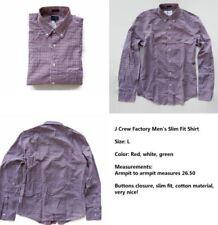 J. Crew Factory Men's Slim Plaid Cotton Shirt Sz L