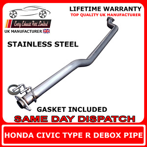 """Honda Civic Type R EP3 Large Bore 2.5"""" Stainless Performance Race Debox Exhaust"""