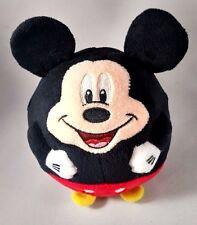 "Mint TY Disney MICKEY MOUSE BEANIE BABY BALLZ Round 5"" Plush Stuffed BALL"