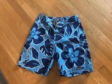 Abercrombie & Fitch Men's Bathing Suit Size 34 Blue Floral GUC