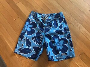 Abercrombie & Fitch Men's Bathing Suit Size 34 Blue Floral GUC