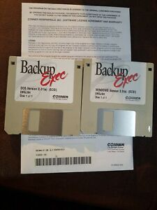 Windows Conner Arcada Dat Backup Exec 3.5 disks