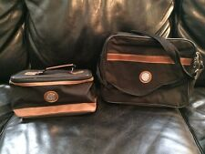 Pair of Vintage Gold Coast Valises Small Hand Luggage Overnight Traveling Cases