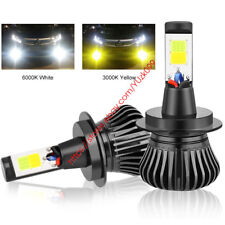 2pcs LED H11 H8 H9 Cree bulbs White/Yellow Dual Color Car Fog Light kit 12V NEW