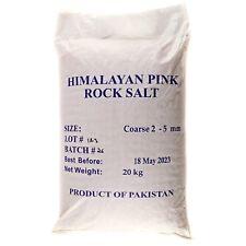HIMALAYAN ROCK SALT COARSE  20 KG BULK  BAG PREMIUM QUALITY FOOD GRADE BATH SALT