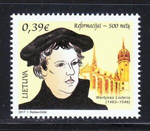 Lithuania 2017 MNH stamp Martin Luther.Protestant Reformation 500th anniversary