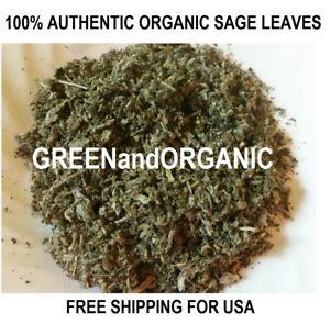 Organic PREMIUM Quality Dried SAGE LEAVES Salvia Officinalis 1 2 4 5 16 32 oz/Lb