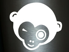 1 x 2 Plott Aufkleber Sir Monkey Affe Affenkopf Gorilla Sticker Shocker Tuning
