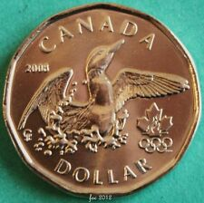 2008 Canadian Olympic Lucky Loonie-One Dollar Coin-B/U