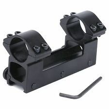 See Through High Profile 25.4mm One Piece Scope Dual Ring Mount 20mm Weaver Rail