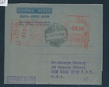 07660) Spanien GA Aerogramme 1,50 + 2,50Ptas LF25I FDC 11.10.52 > USA