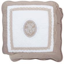 Clayre & Eef Kissenhülle Kissenbezug gequiltet Baumwolle 40 x 40 cm