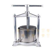 5.3L Stainless Steel Aluminum Wine Fruit Grape Italian Press & Crusher Home Brew