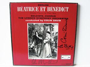 2 LP Box Opera: SIGNED BY COLIN DAVIS, JOHN SHIRLEY-QUIRK & SHILLING ! Berlioz