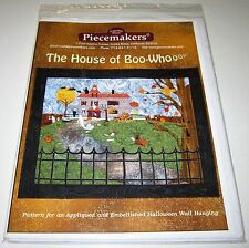 The House Of Boo Whoooo Applique Quilt Wall Hanging sewing pattern Halloween