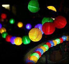 Solar Christmas Lighting Lantern Waterproof Holiday Ornament LED Glitter Garland