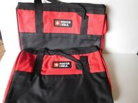 NEW (2 PACK) Porter Cable Heavy Duty NYLON Tool Bag Contractor Bag 16X11X9
