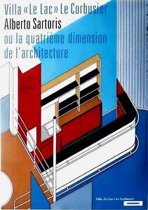 Original vintage poster VILLA LE CORBUSIER EXPO ALBERTO SARTORIS