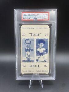 1946 Turf Cigarettes Sam King #17 + Rinty Monaghan #50 - PSA 5 Complete w/ Tabs