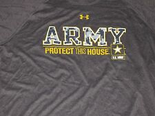 NWT UNDER ARMOUR MENS XL CAMO US ARMY STRONG PROTECT THIS HOUSE' LOOSE  SHIRT