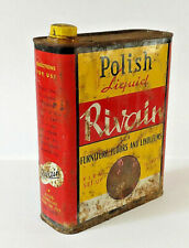 Vintage Rivain Can 2 litres Polish  Extra Motor Auto Gas Service Station Tin Can