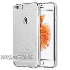 FUNDA SILICONA CROMADO Para iPhone 4 4S 4G GEL ULTRASLIM BORDE EFECTO METALIZADO
