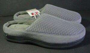 Dearfoams Machine Washable Slippers Slides Mules Womens S 7 8 Eur 40 41 Gray