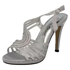 Satin Slingbacks Standard Width (D) Slim Heels for Women