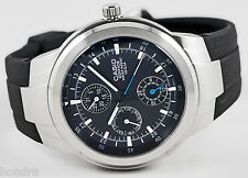 Casio EF305-1AV EDIFICE Mens Analog Watch 100M WR 3 Circles Sport Resin New