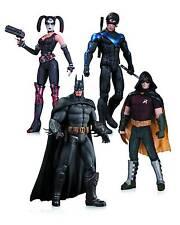 "Batman Arkham City 6"" Action Figure 4 Pack NightWing Harley Batman Robin"