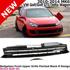 VW 10-14 GOLF MK6 VI Jetta Wagon / GTI Black FRONT GRILLE Badgeless w/ Filler